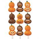 Smiling Pumpkins Lollipop Mold
